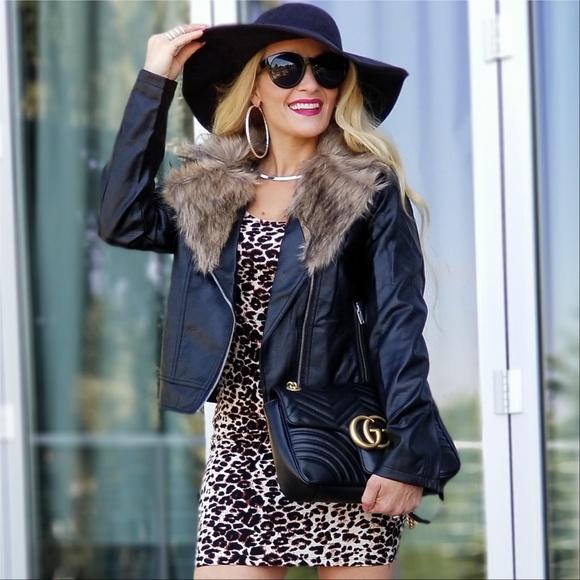 MODA ME COUTURE Jackets & Blazers - JULIA Faux Leather Jacket